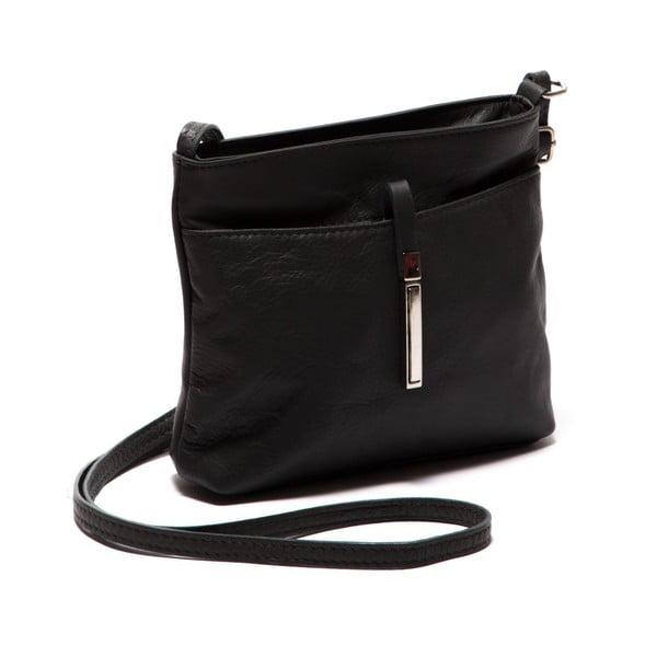 Čierna kožená kabelka Roberta M.