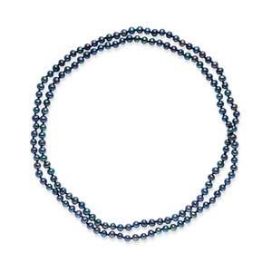 Modrý perlový náhrdelník Nova Pearls Copenhagen Emilie