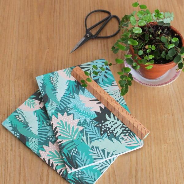 Zelený zápisník Michelle Carlslund Jungle