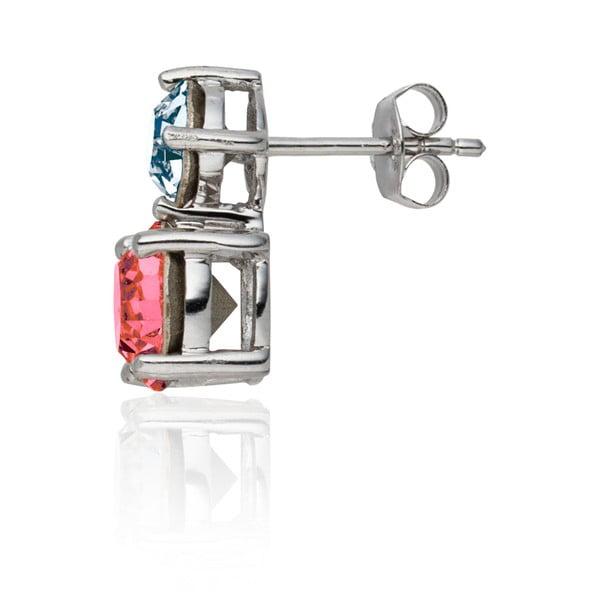 Sada náušníc a náhrdelníku Round Cut Pink