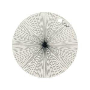 Sada 2 vzorovaných silikónových prestieraní OYOY Ray, ⌀39 cm