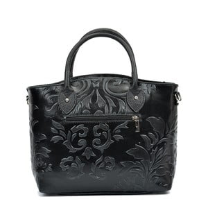 Čierna kožená kabelka Renata Corsi Valeriana