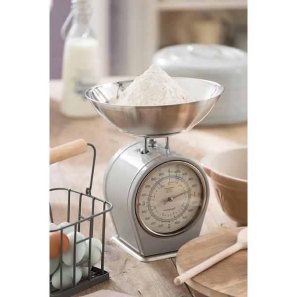Sivá kuchynská váha Kitchen Craft Living Nostalgia, 4 kg