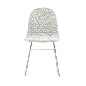 Krémová stolička s kovovými nohami IKER Mannequin V Triangle