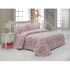 Sada prešívanej prikrývky na posteľ a dvoch vankúšov Double 465, 200x220 cm