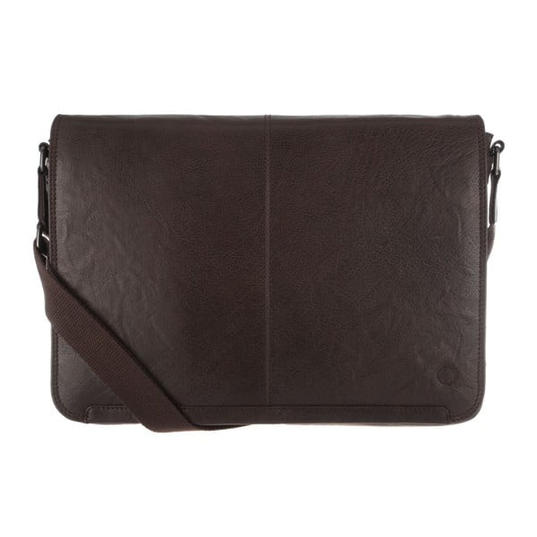 Kožená taška Croft Vintage Darkest Brown