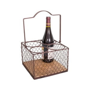 Čierny kovový stojan na 4 fľaše Antic Line Lousain