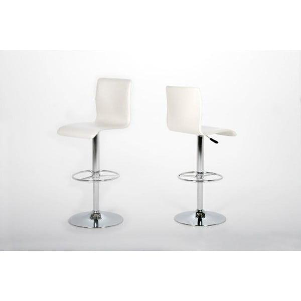 Barová stolička Aze, biela