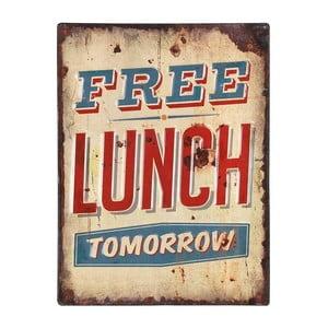 Kovový obraz Free Lunch