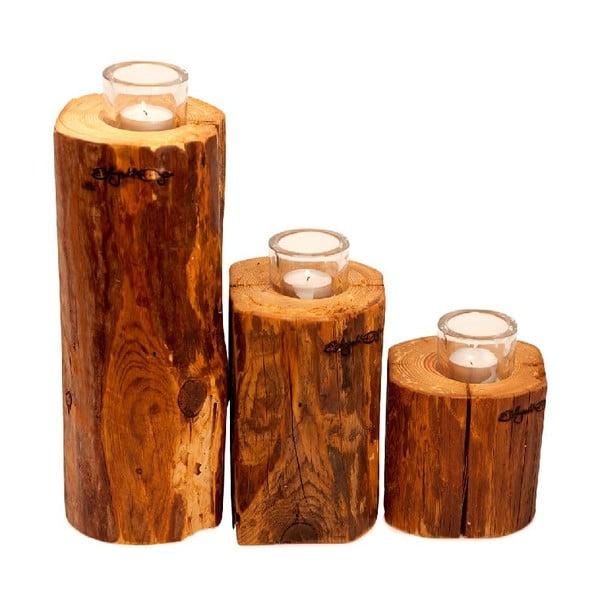 Set 3 svietnikov Lumberjack