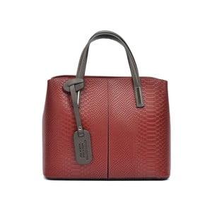 Červená kožená kabelka Roberta M Murielle