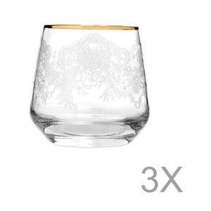 Sada 3 pohárov Mezzo Lily Puro, 345 ml