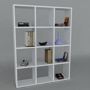 Knižnica Ultimate White, 22x93,6x124,2 cm