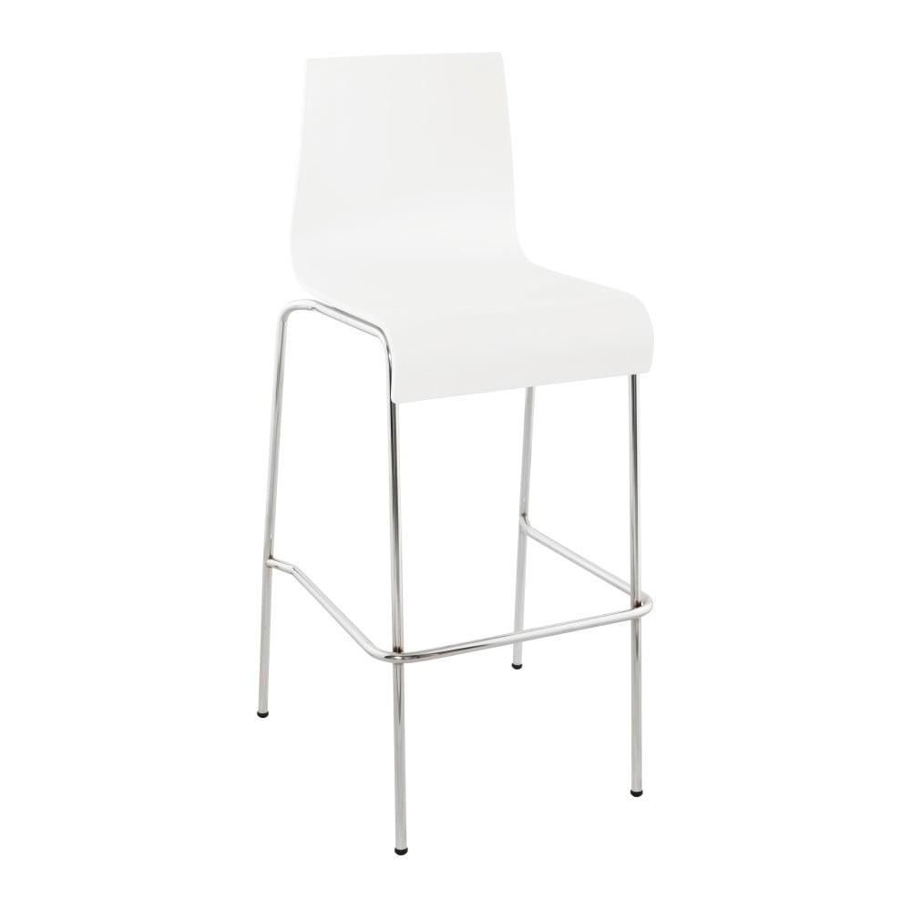 Biela barová stolička Kokoon Cobe, výška 74 cm