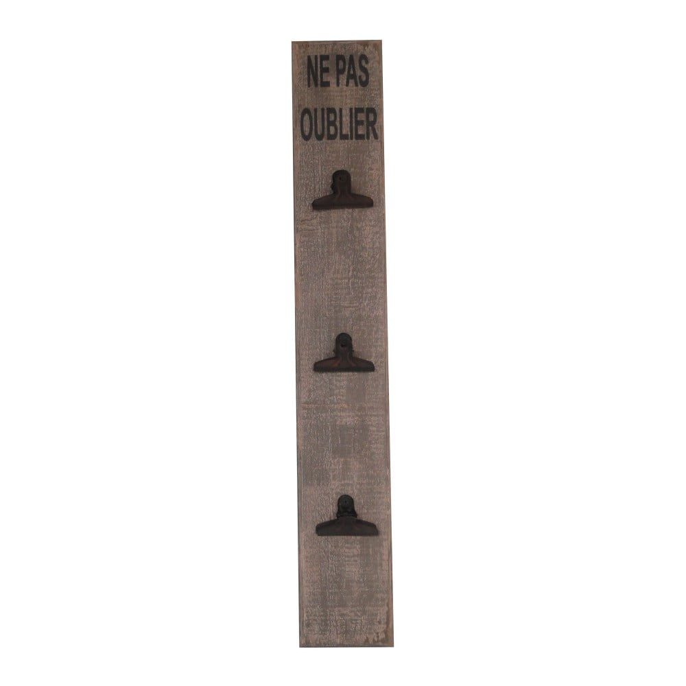 Drevená nástenka s klipsňami Antic Line, výška 74 cm