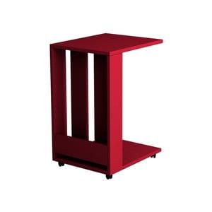 Červený príručný stolík Homitis Alfa