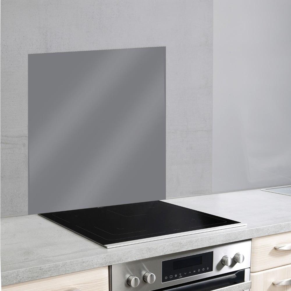 Sivý sklenený kryt na stenu pri sporáku Wenko, 70 × 60 cm