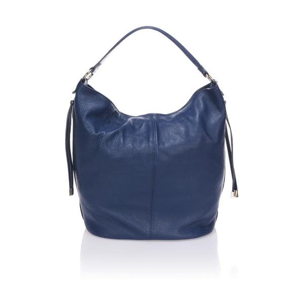 Kožená kabelka Krole Karla, modrá