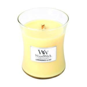 Sviečka s vôňou citrónovej trávy a ľalie WoodWick, doba horenia 60 hodín
