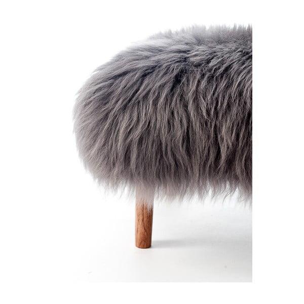 Stolička z ovčej kože Bonwen Slate Grey