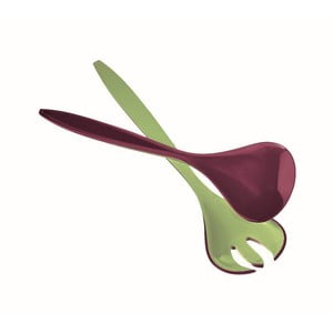 Zeleno-fialový šalátový set Fratelli Guzzini Glam