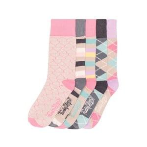 Sada 5 párov farebných ponožiek Funky Steps Lori, veľ. 35-39