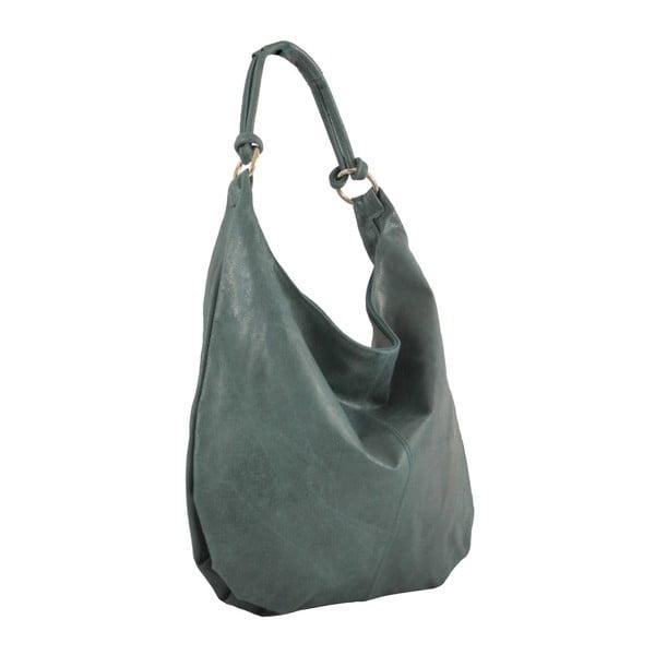 Petrolejová kožená kabelka Francesca