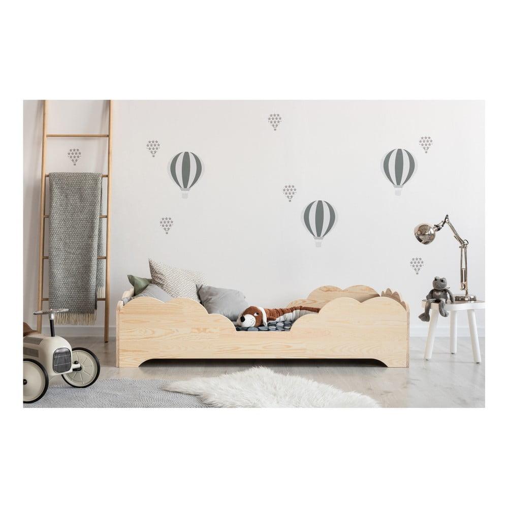 Detská posteľ z borovicového dreva Adeko BOX 10, 70 × 140 cm