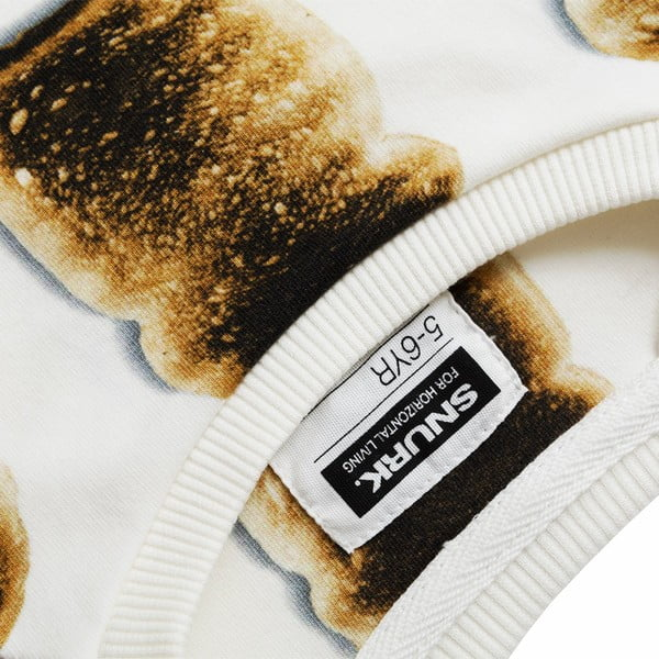 Biela dievčenská mikina Snurk Toast, 140