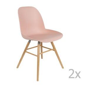 Sada 2 ružových stoličiek Zuiver Albert Kuip