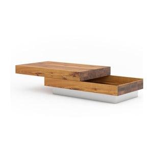 Konferenčný stolík z dubového dreva s úložným priestorom Javorina Blok
