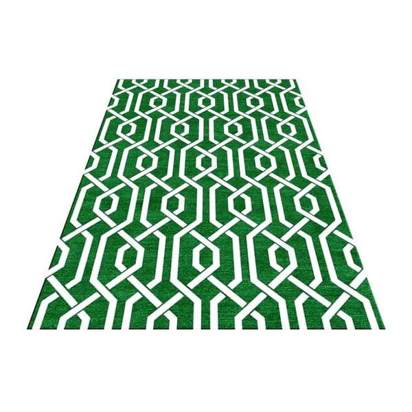 Ručně tkaný koberec Camila Green, 155x240 cm