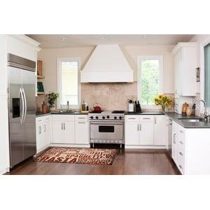 Vysokoodolný kuchynský koberec Spaghetti, 60x110 cm