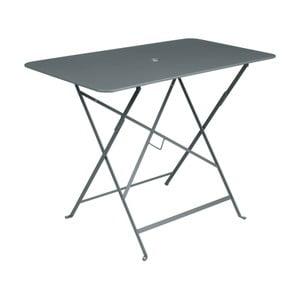 Sivý záhradný stolík Fermob Bistro, 97×57 cm