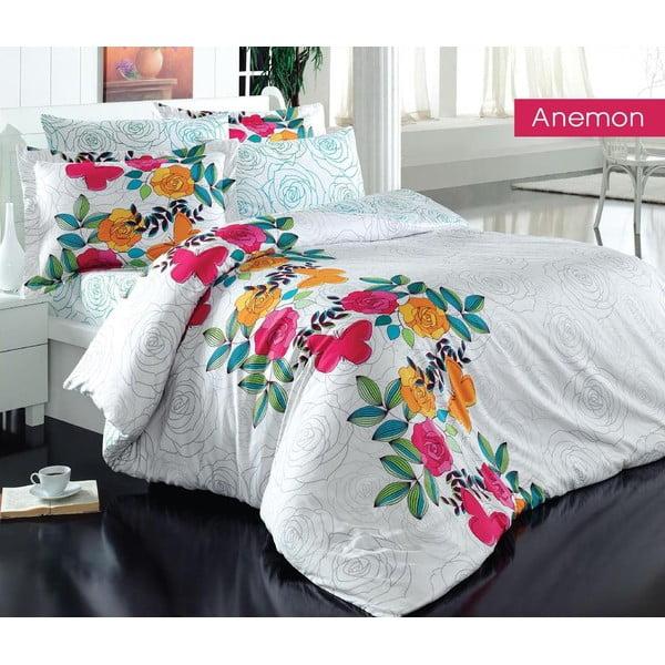 Obliečky s plachtou na dvojlôžko Anemon, 200×220cm