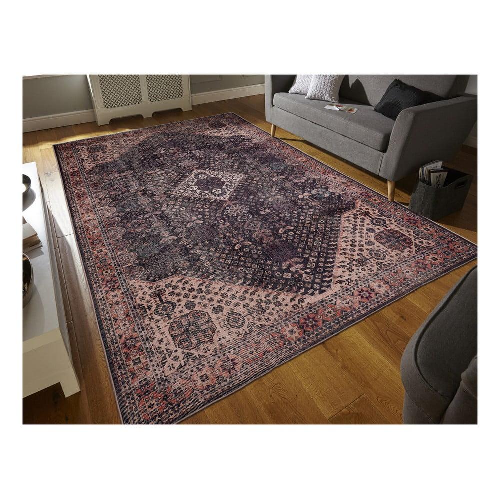 Koberec odolný voči škvrnám Floorita Bjdiar Graphite, 160 × 230 cm