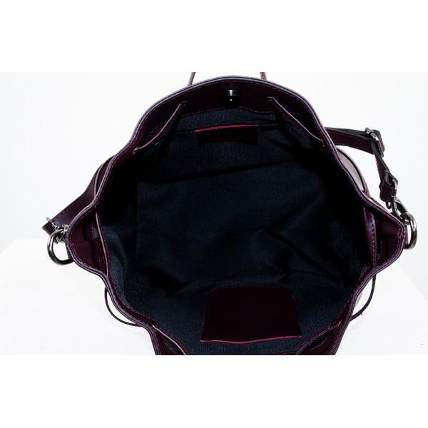 Kožená kabelka Farah, bordó