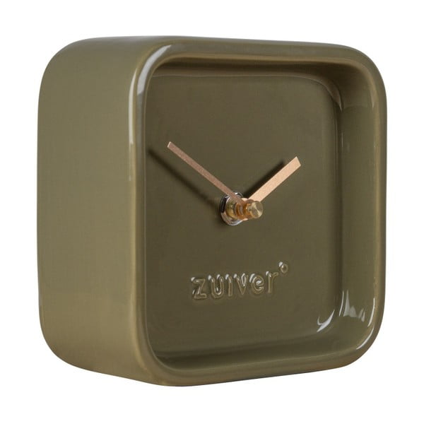 Zelené stolové hodiny Zuiver Cute