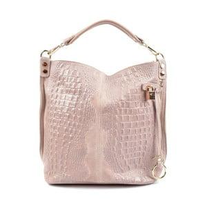 Ružovobéžová kožená kabelka Roberta M Russna