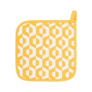 Sada 2 žltých bavlnených chňapiek Tiseco Home Studio He×agon