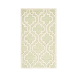 Vlnený koberec Lola 91x152 cm, zelenkavý