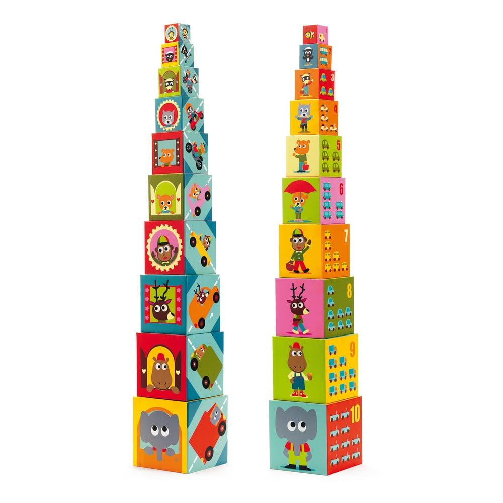 Škatuľková veža Djeco Dopravné prostriedky