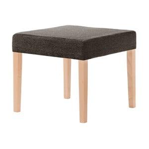 Hnedá stolička s hnedými nohami Ted Lapidus Maison Pétale