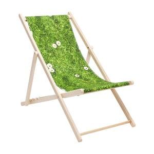 Zeleno-hnedé ležadlo Kare Design Meadow
