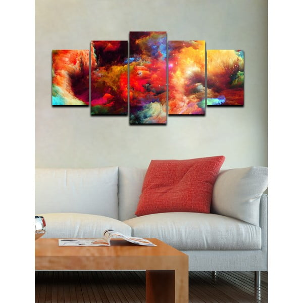 5-dielny obraz Farevný prach