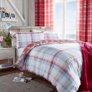 Obliečky St. Ives Check Pink, 135x200 cm