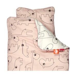 Detské ružové obliečky Done by Deer Contour, 100×140cm
