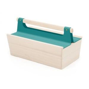 Modrý úložný box z jaseňového dreva na náradie HARTÔ