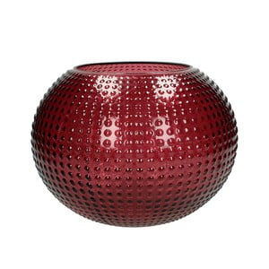 Červená sklenená váza HF Living Taylor