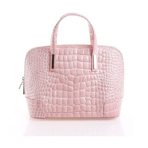Kožená kabelka Jatany, ružová